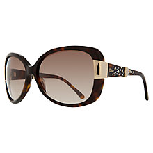 Buy Christian Dior Midnight 086HA Oversized Diamanté Sunglasses, Dark Brown Online at johnlewis.com