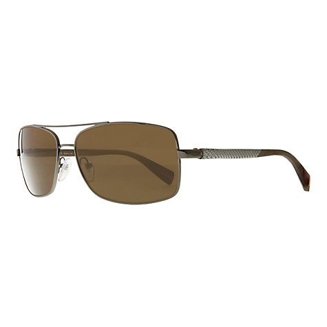 Buy Prada PS50OS Lifestyle Metal Sunglasses, Gunmetal / Brown Online at johnlewis.com