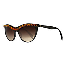 Buy Prada PR04PS Topaz Top Line Cat Eye Sunglasses, Havana / Black Online at johnlewis.com