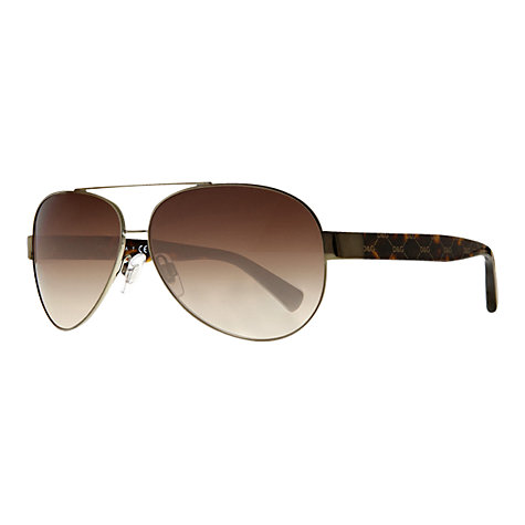 Buy Dolce & Gabbana DG2118P Aviator Logo Arm Sunglasses Online at johnlewis.com