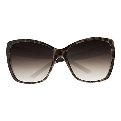 Buy Dolce & Gabbana DG4111M Oversized Square Catseye Sunglasses, Leopard Online at johnlewis.com