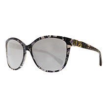Buy Dolce & Gabbana DG4162P Oversized Sunglasses, Purple/Black Online at johnlewis.com
