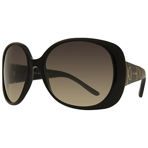 Buy Gucci GG 3536/S Round Sunglasses, Black Online at johnlewis.com