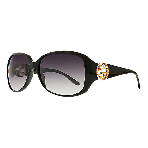 Buy Gucci GG3578/S Embellished Interlocking Logo Sunglasses Online at johnlewis.com