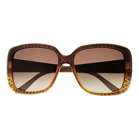 Buy Gucci GG3574/S Square Diamond Pattern Sunglasses Online at johnlewis.com