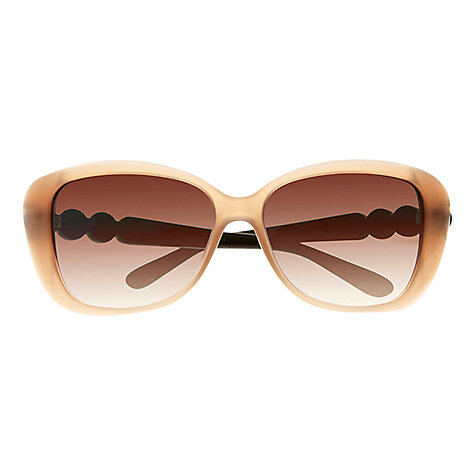 Buy Marc by Marc Jacobs MMJ323/S Square Two-Tone Sunglasses, Nude/Black Online at johnlewis.com