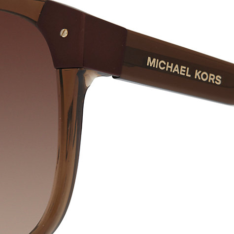 Buy Michael Kors MKS297 Oval Sunglasses, Brown Online at johnlewis.com