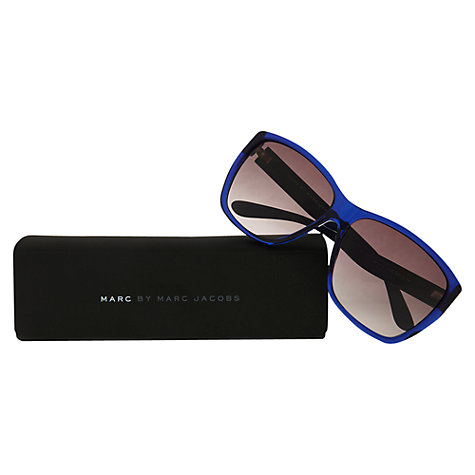 Buy Marc by Marc Jacobs MMJ315/S Square Sunglasses, Blue Online at johnlewis.com