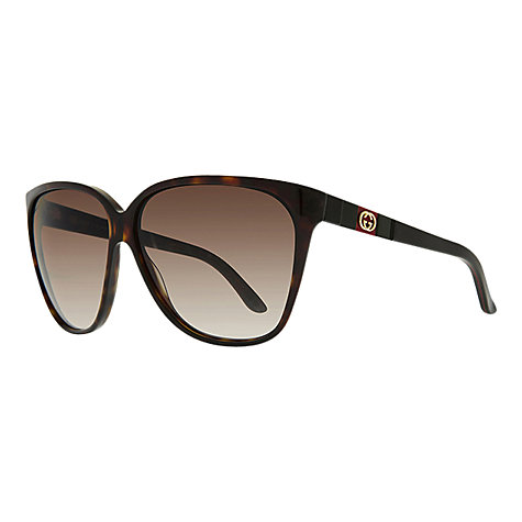 Buy Gucci GG3539/S Oversized Acetate Frame Sunglasses Online at johnlewis.com
