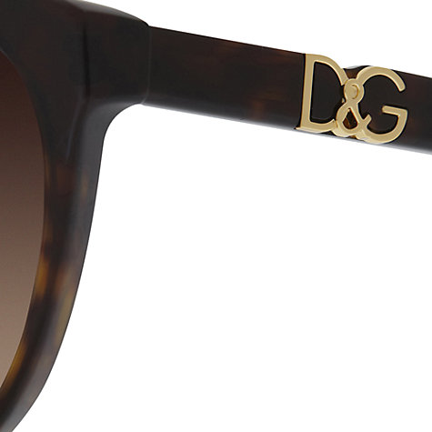 Buy Dolce & Gabbana DG4171 502/13 Round Sunglasses, Havana Online at johnlewis.com