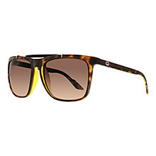 Buy Gucci GG3588/S 791 HA Top Bar D-Frame Sunglasses, Tortoiseshell Brown Online at johnlewis.com