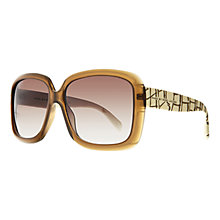 Buy Marc by Marc Jacobs MMJ332/Square Sunglasses, Light Brown Online at johnlewis.com