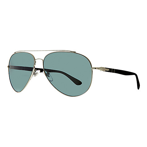 Buy Persol PO2424S Design Aviator Sunglasses, Gun Metal Online at johnlewis.com