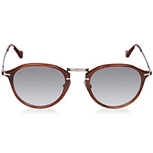 Buy Persol PO3046S 957/71 Round Retro Style Sunglasses, Brown Online at johnlewis.com