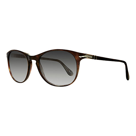 Buy Persol PO3042 Suprema Oval Sunglasses, Brown Havana / Smoke Online at johnlewis.com
