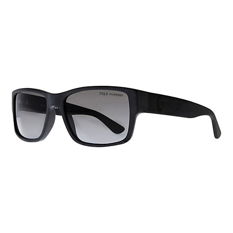 Buy Polo Ralph Lauren PH4061 Pony Player Sunglasses, Matte Black Online at johnlewis.com
