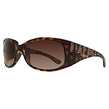 Buy Ralph Lauren Designer Square Sunglasses, Brown Online at johnlewis.com