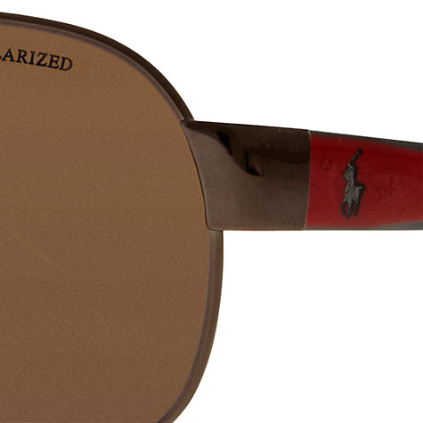 Buy Polo Ralph Lauren PH3066 Pony Player Pilot Sunglasses Online at johnlewis.com