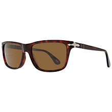 Buy Persol PO3026S 24/57 Rectangular Framed Sunglasses, Tortoiseshell Online at johnlewis.com