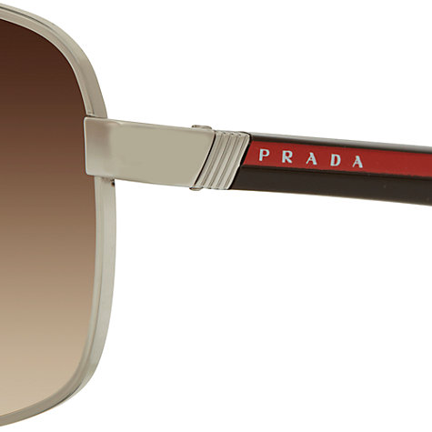 Buy Prada 0PS 55NS Oval Sunglasses, Silver Online at johnlewis.com