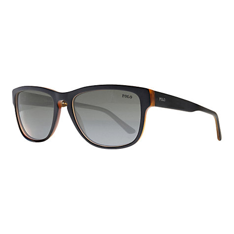 Buy Polo Ralph Lauren PH3063 Sunglasses, Black/Amber Online at johnlewis.com