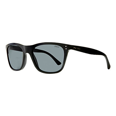 Buy Polo Ralph Lauren PH4071 Preppy Square Sunglasses, Matte Black Online at johnlewis.com