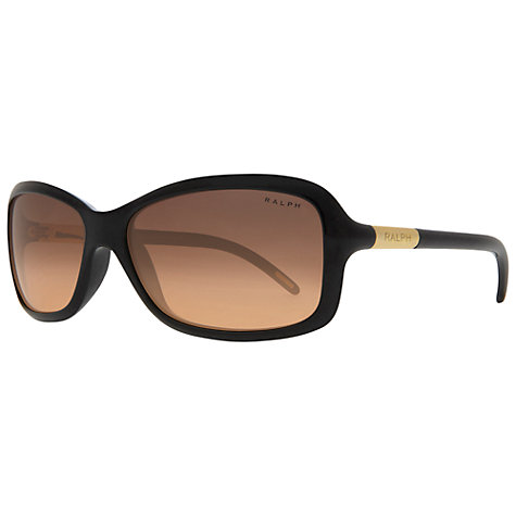 Buy Ralph Lauren RA5072 Square Sunglasses, Black Online at johnlewis.com