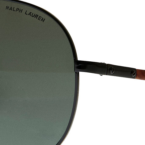 Buy Polo Ralph Lauren PH3073 Automotive Sunglasses, Shiny Black Online at johnlewis.com