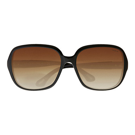 Buy Ralph Lauren RA5149 Large Square Sunglasses, Black Online at johnlewis.com
