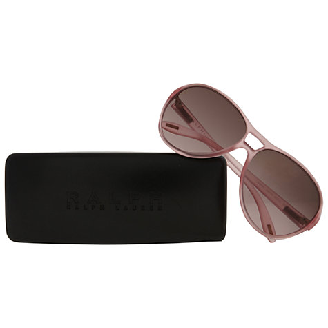 Buy Ralph Lauren RA5151 102314 Square Sunglasses, Pink Online at johnlewis.com