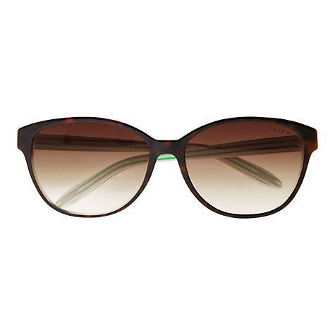 Buy Ralph Lauren RA5128 Oval Sunglasses, Tortoiseshell/Green Stripe Online at johnlewis.com