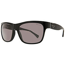 Buy Ralph Lauren RA5164 501/11 Square Framed Sunglasses, Black Online at johnlewis.com