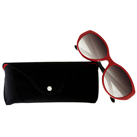 Buy Ralph Lauren Art Deco Sunglasses, Red Online at johnlewis.com