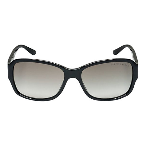 Buy Ralph Lauren RL8102 Art Deco Oval Sunglasses, Black Online at johnlewis.com