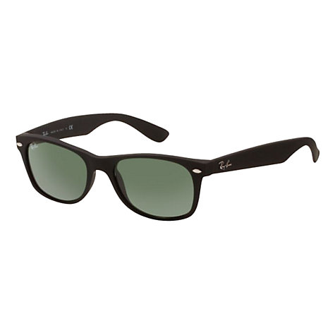 Buy Ray-Ban RB2132 New Wayfarer® Sunglasses, Black Rubber Online at johnlewis.com