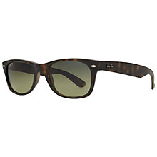 Buy Ray-Ban RB2132 New Wayfarer Polarised Sunglasses, Matte Havana Online at johnlewis.com