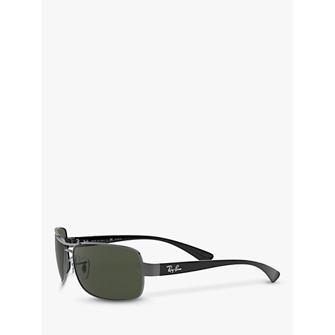 Buy Ray-Ban RB3379 Active Rectangular Sunglasses, Gunmetal Online at johnlewis.com