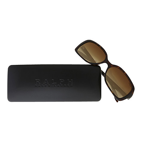 Buy Ralph Lauren RA5130 Rectangular Sunglasses, Dark Tortoiseshell Online at johnlewis.com