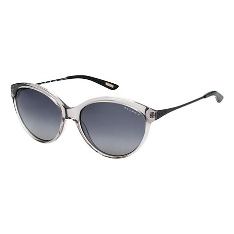 Buy Ralph Lauren RA5154 Transparent Cats Eye Sunglasses, Grey Online at johnlewis.com