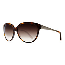 Buy Ralph Lauren RL8079 Script Logo Cats-Eye Sunglasses, Havana Online at johnlewis.com