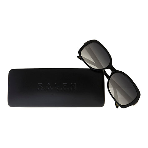 Buy Ralph Lauren RA5122 Rectangular Sunglasses, Black Online at johnlewis.com