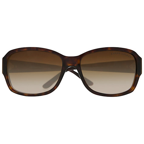 Buy Ralph Lauren RL8102B 500313 Diamanté Encrusted Sunglasses, Dark Havana Online at johnlewis.com