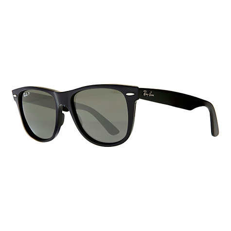 Buy Ray-Ban RB2140 Iconic Wayfarer Oval Sunglasses, Black Online at johnlewis.com