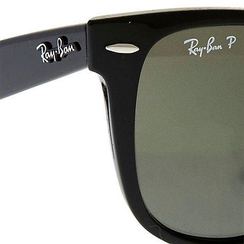 Buy Ray-Ban RB2140 Large Original Wayfarer Sunglasses, Black Online at johnlewis.com