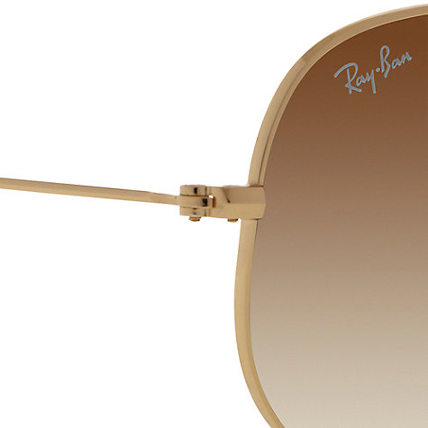 Buy Ray-Ban RB3479 Arista 001/51 Folding Aviator™ Sunglasses, Gold Online at johnlewis.com