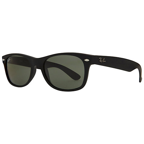 Buy Ray-Ban RB2132 New Wayfarer Polarised Sunglasses, Black Online at johnlewis.com