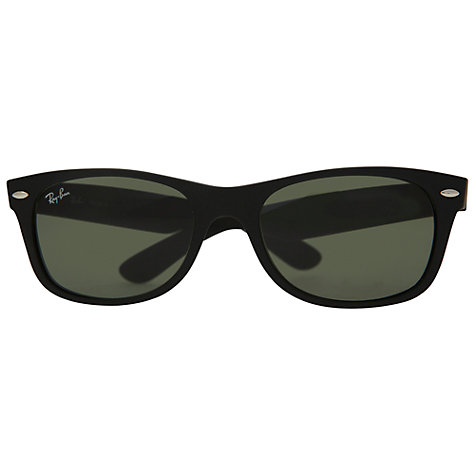 Buy Ray-Ban RB2132 901 New Wayfarer Sunglasses, Black Online at johnlewis.com