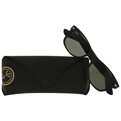 Buy Ray-Ban RB2132 901 New Wayfarer Sunglasses, Matt Black Online at johnlewis.com