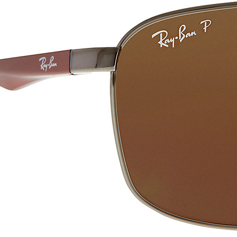 Buy Ray-Ban RB3506 Active Lifestyle Rectangular Sunglasses Online at johnlewis.com