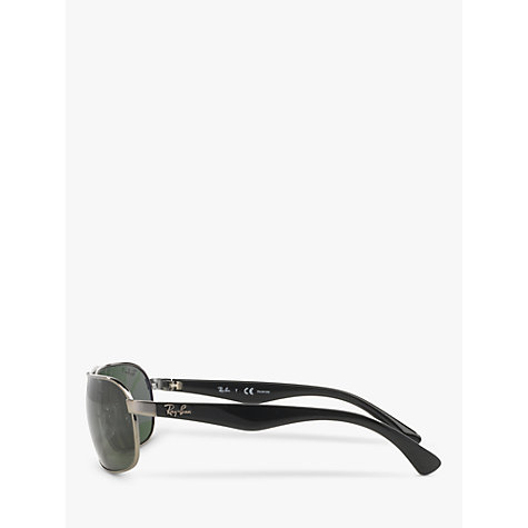 Buy Ray-Ban RB3492 Highstreet Top Bar Sunglasses, Gunmetal Online at johnlewis.com
